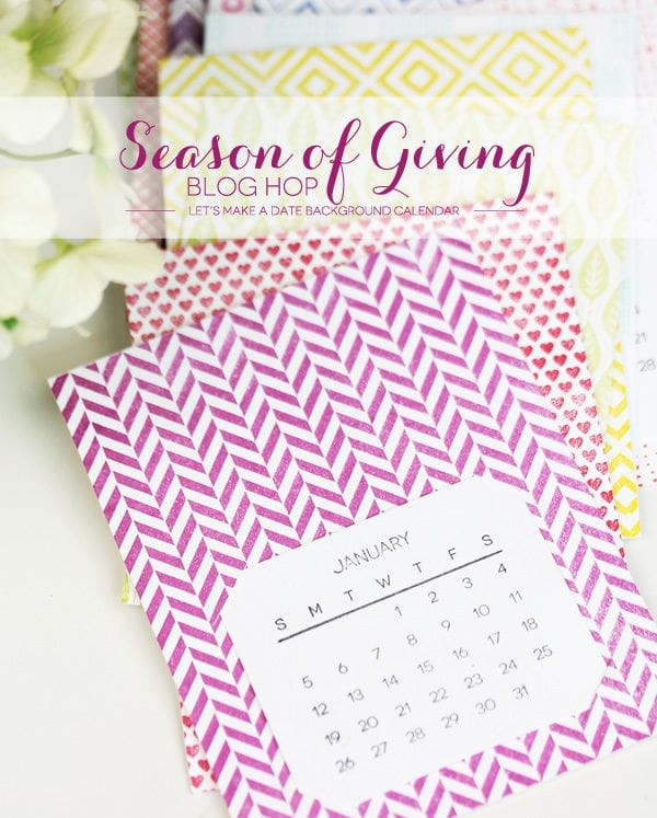 A Simple Stamped Calendar | Damask Love Blog
