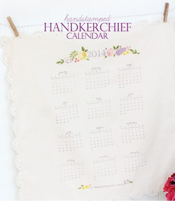 Let's Make a Date: Handkerchief Calendar
