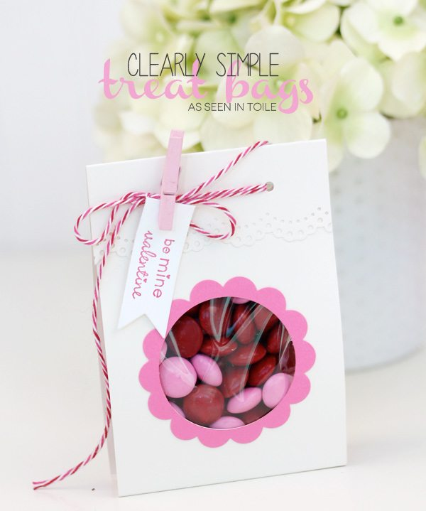 Clearly Simple Treat Bags from Toile | Damask Love