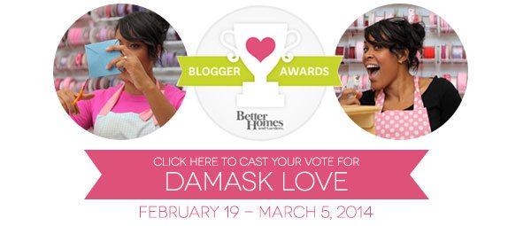 Vote for Damask Love in the BHG Blogger Awards