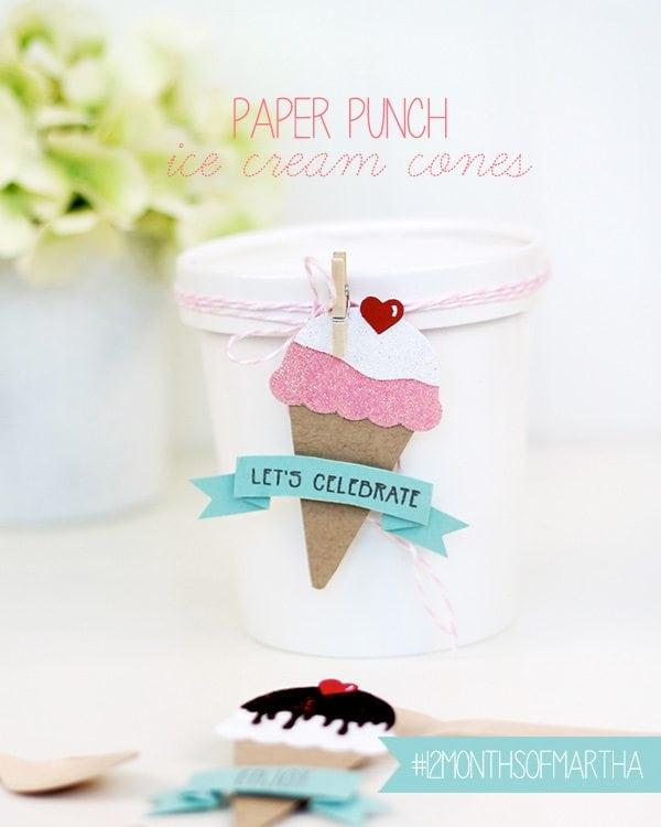Paper Punch Ice Cream Cones