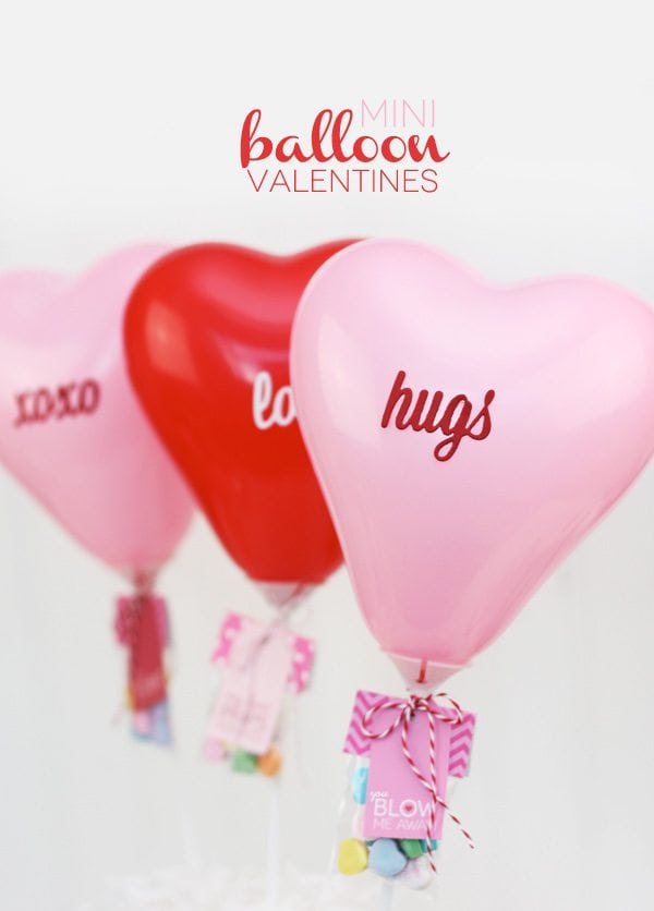 DIY Mini Balloon Valentines | Damask Love Blog