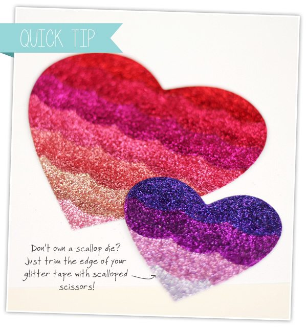 Glitter Tape Ombre Embellishments | Damask Love Blog