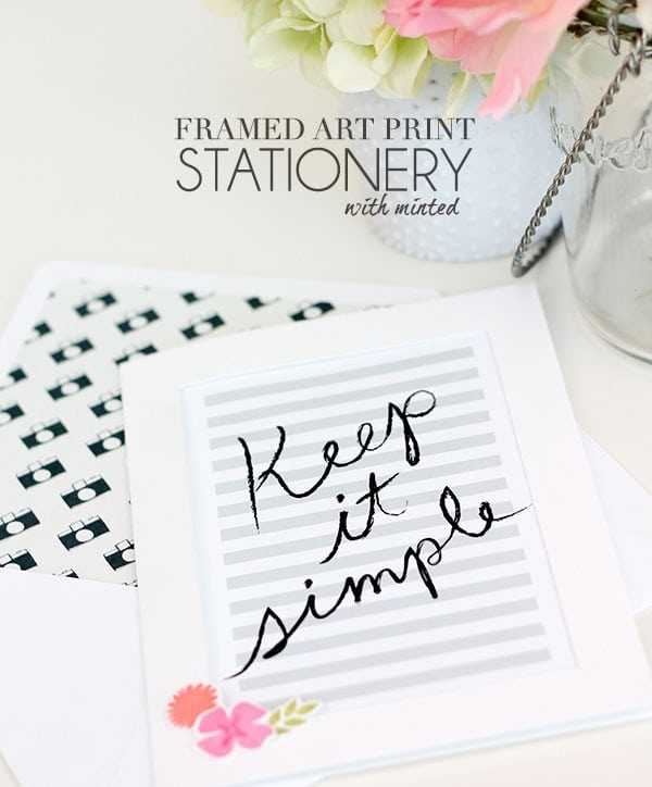 DIY Art Print Stationery