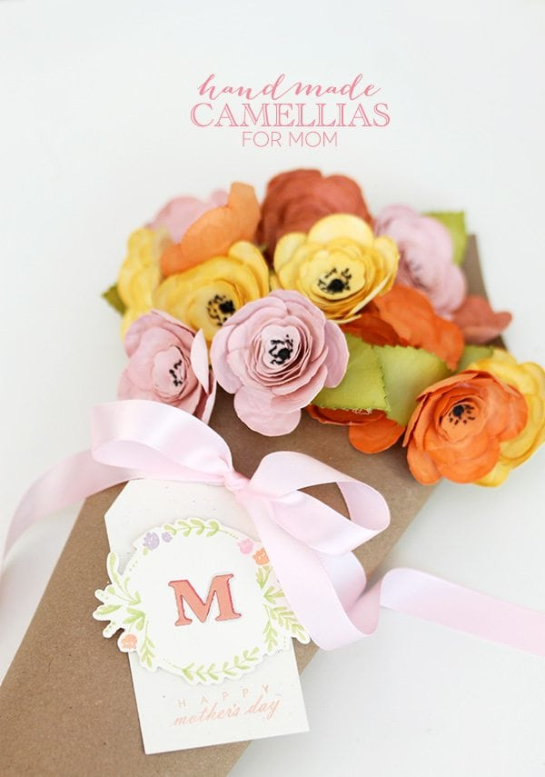 Paper Flower Bouquet for Mom | Damask Love Blog
