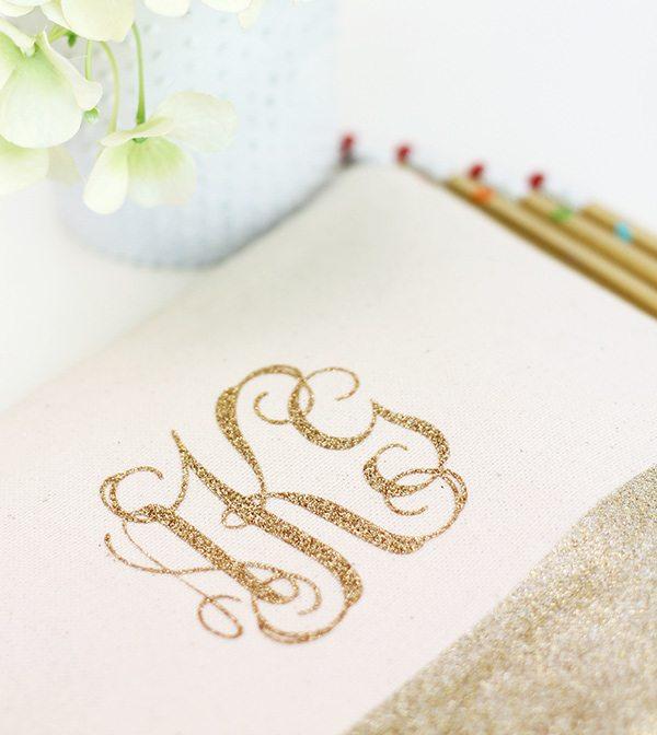 Gold Glitter Monogram