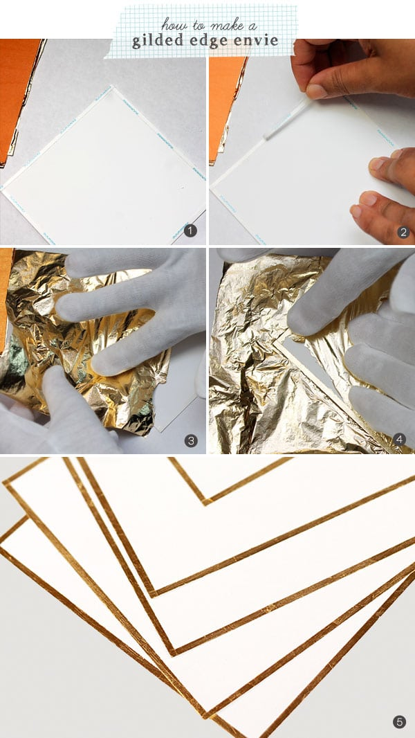 Gold Bow Stationery | Damask Love Blog