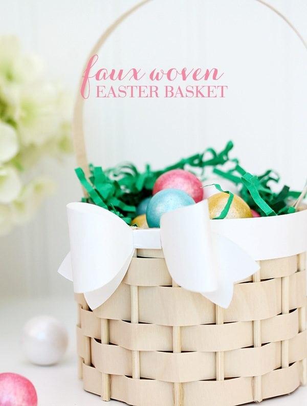 Faux Woven Basket | Damask Love
