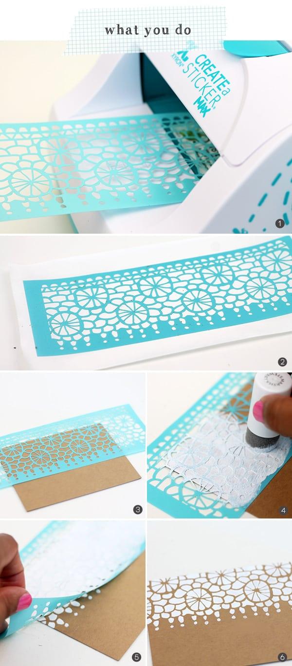 Stenciled Lace Stationery | Damask Love