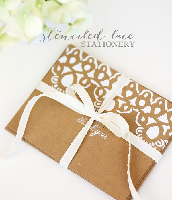 Stenciled Lace Stationery | Damask Love IMG_3537
