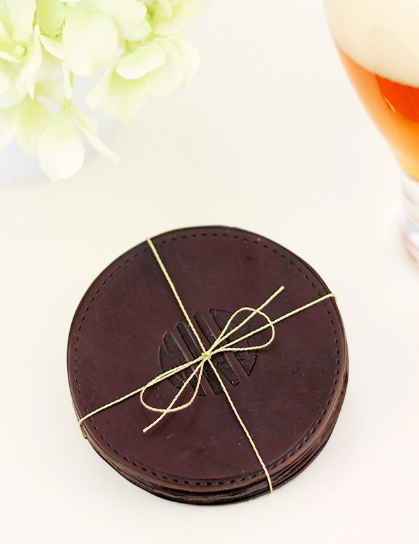 "Design Inspired: ""Leather"" Coasters 