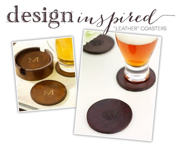 "Design Inspired: ""Leather"" Coasters"