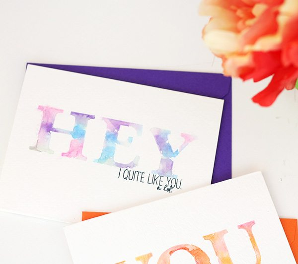Simple Watercolor Sentiments | Damask Love