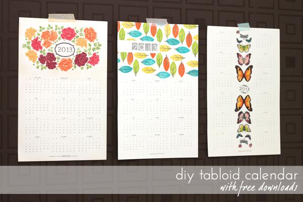 Love Calendar Diy : Diy calendar series tabloid calendars damask love