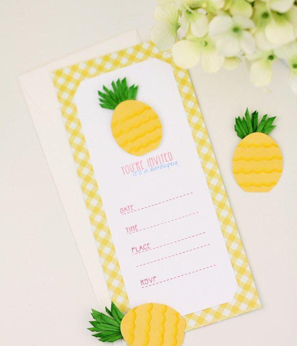 Easy Like Sunday Morning: Paper Punch Pineapples | Damask Love