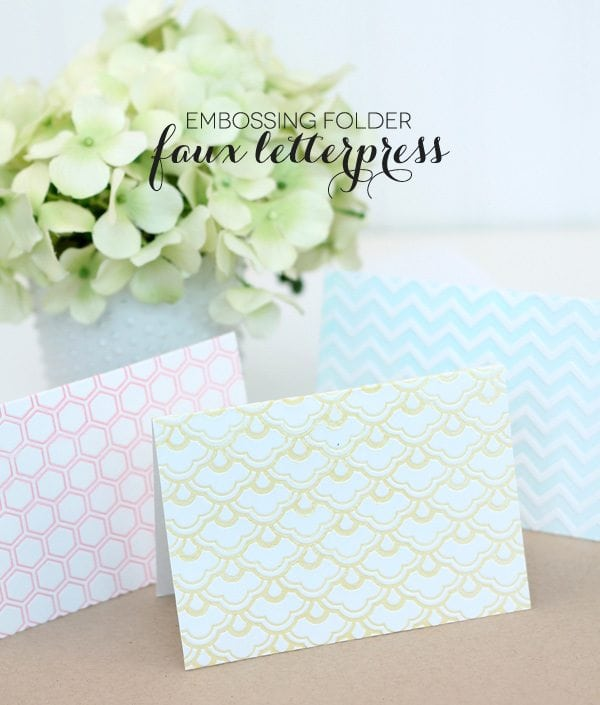 Faux Letterpress with Embossing Folders | Damask Love