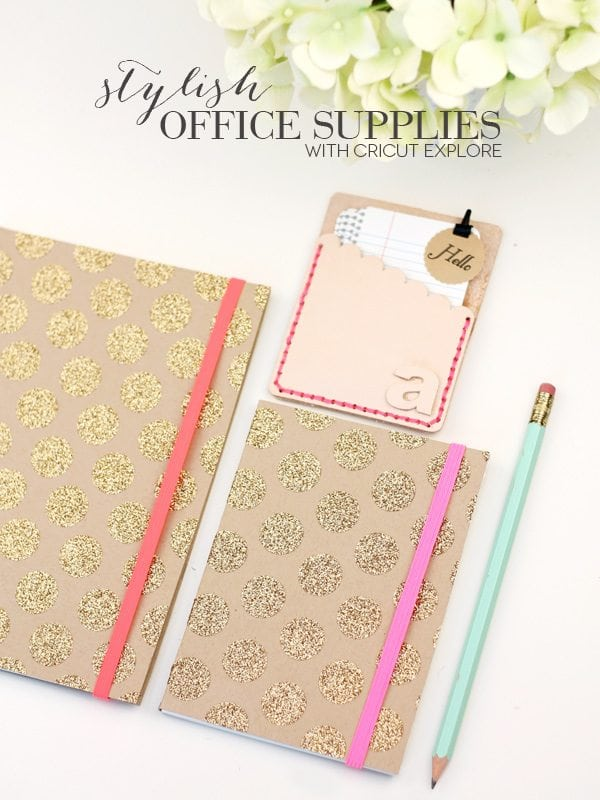 DIY Gold & Leather Office Supplies