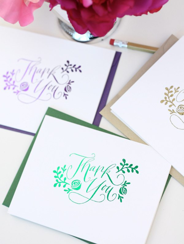 Stamped Laser Foil Cards