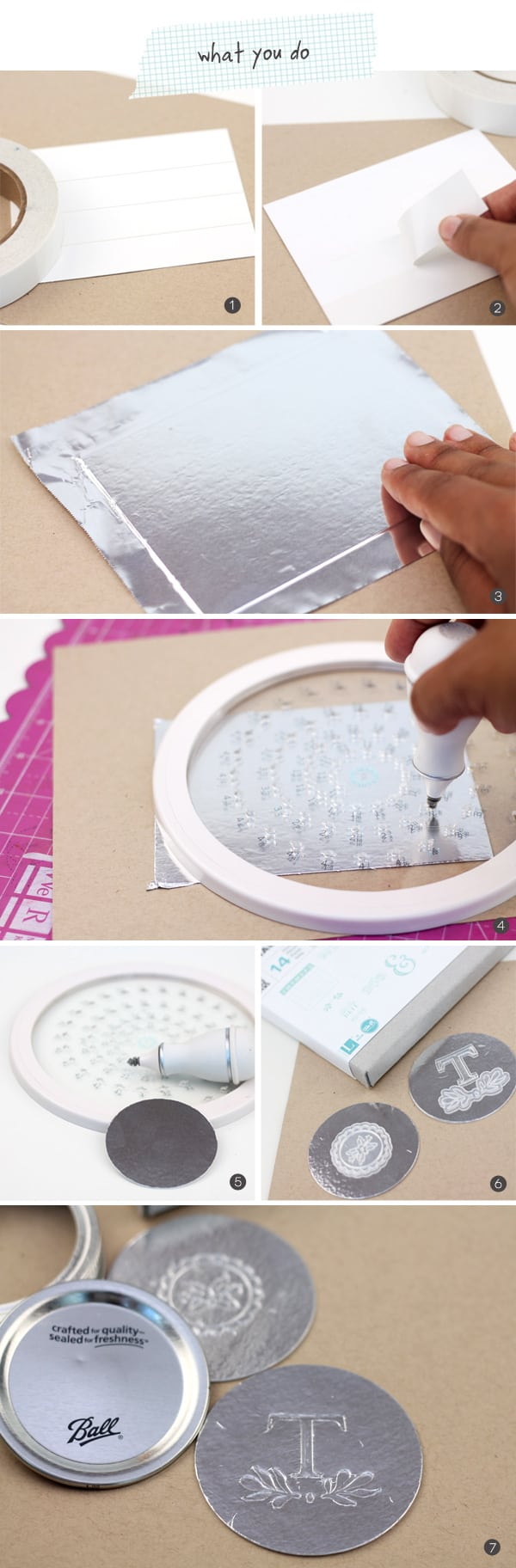 DIY Foil Mason Jar Lids