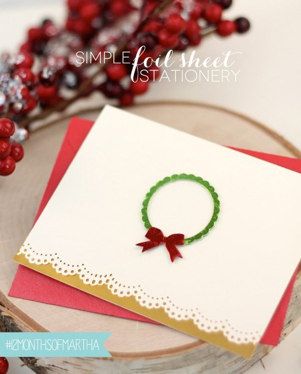 The Foil Files: Simple Foil Sheet Stationery