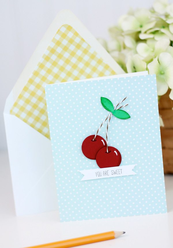 Easy Paper Punch Cherries | Damask Love