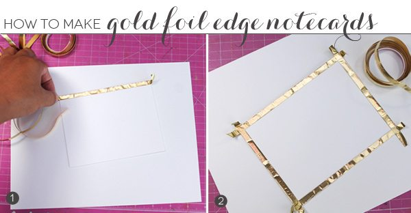 Foil Edge Flat Notecards | Damask Love