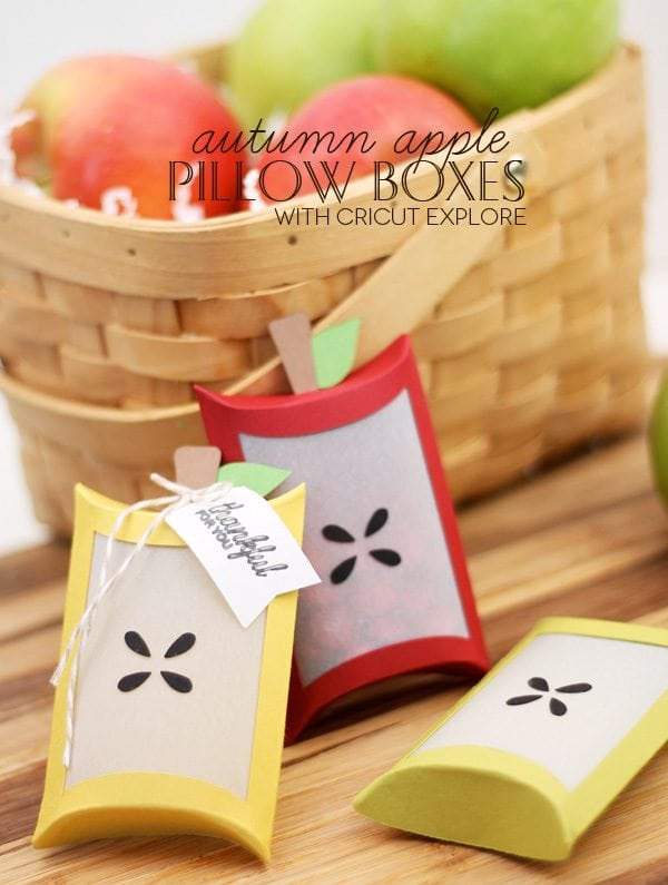 Autumn Apple Favor Boxes with Cricut Explore