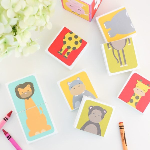 DIY Animal Puzzle Blocks with Cricut Explore