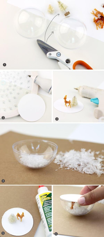Snow Globe Mason Jar Topper | Damask Love