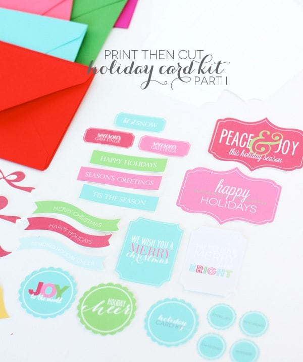 A Merry & Bright Card Kit with Cricut Explore: Pt. 1