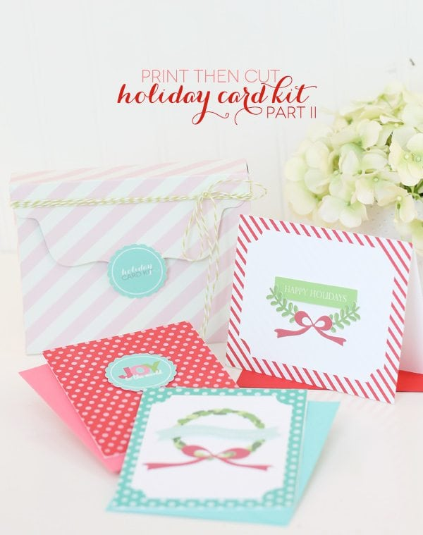 A Merry & Bright Card Kit with Cricut Explore: Pt.2