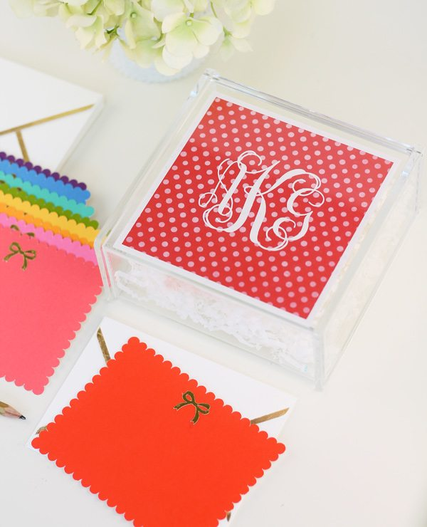 DIY Acrylic Monogram Box  | Damask Love