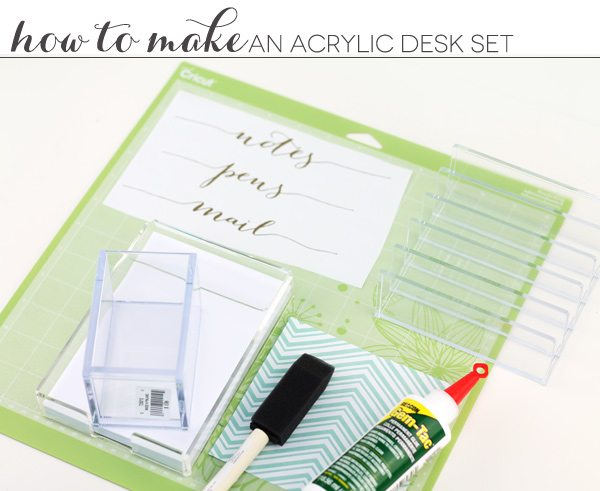 DIY Gold & Acrylic Desk Set
