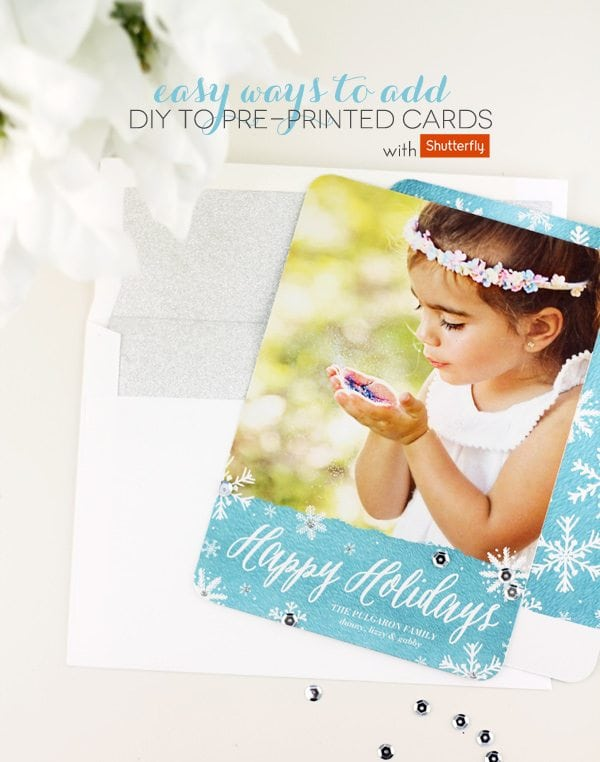 How to Add DIY Flair to Pre-Printed Cards
