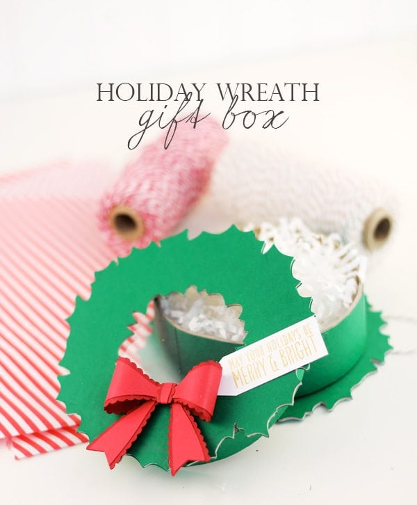 DIY Holiday Wreath Gift Box