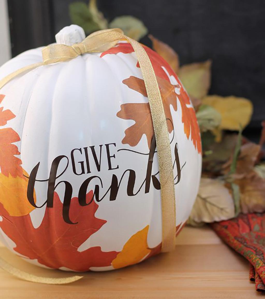 DIY Autumn Decoupage Pumpkin