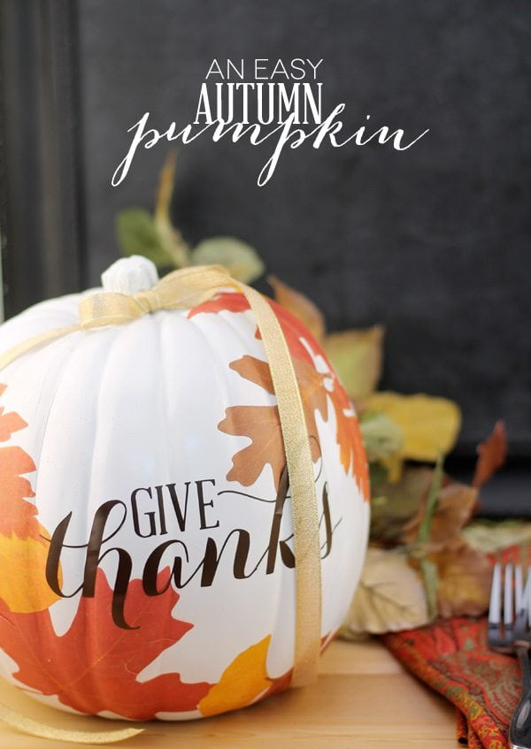 DIY Autumn Decoupage Pumpkin