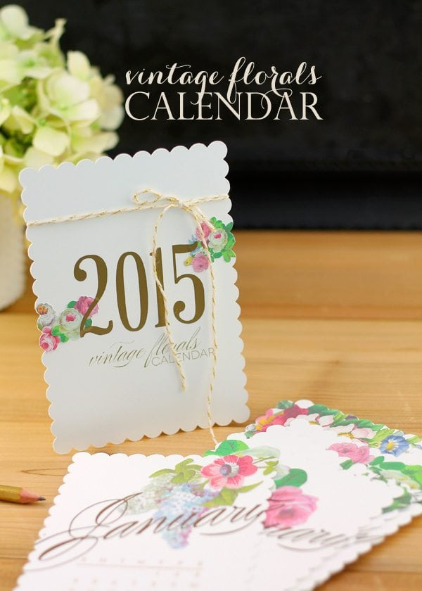 Vintage Floral Calendar with Cricut Explore