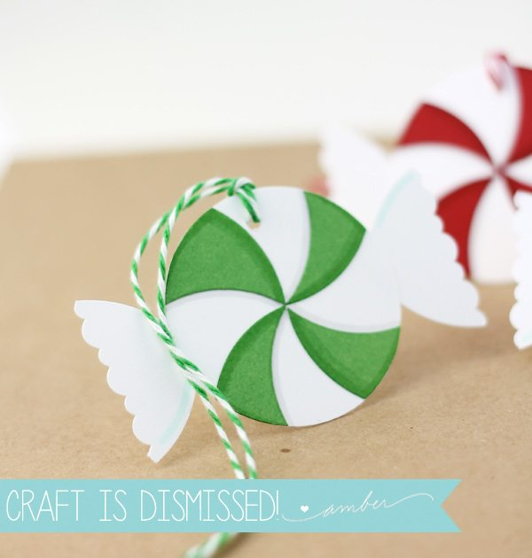 Easy Paper Peppermint Gift Tags | Damask Love