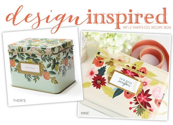 Design Inspired: Holiday Recipe Tin
