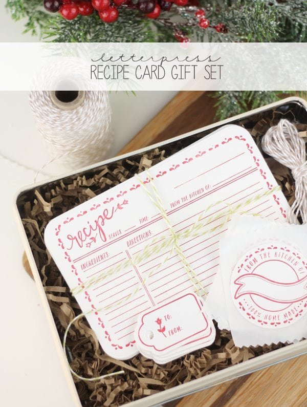 Letterpress Recipe Card Gift Set