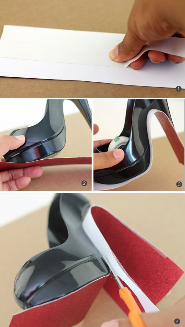 DIY Designer Shoe Tape Dispenser | Damask Love