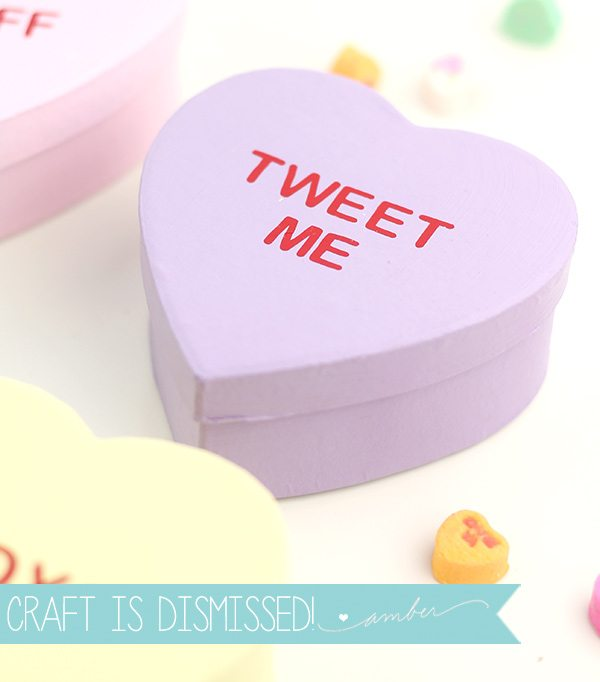 Easy Conversation Heart Boxes |  Damask Love