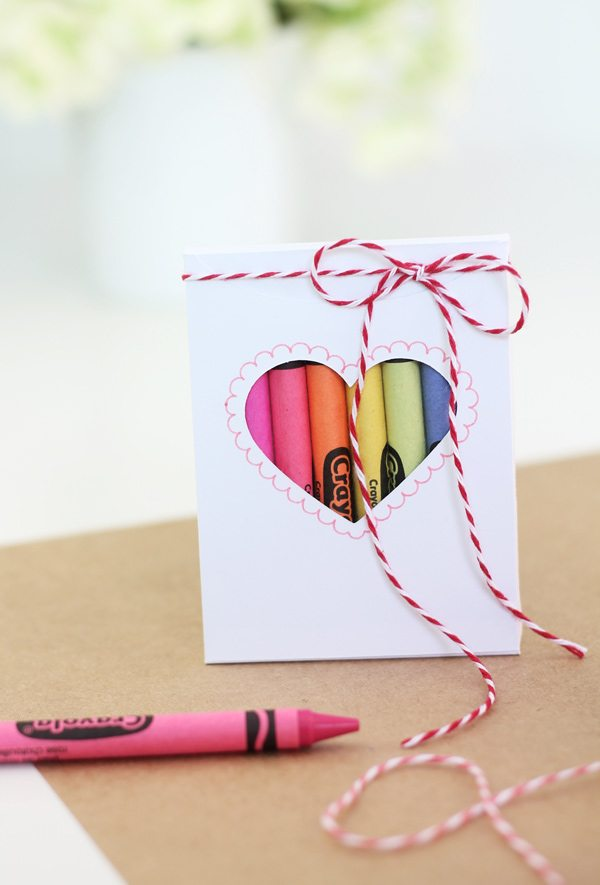Crayon Box Valentines | Damask Love