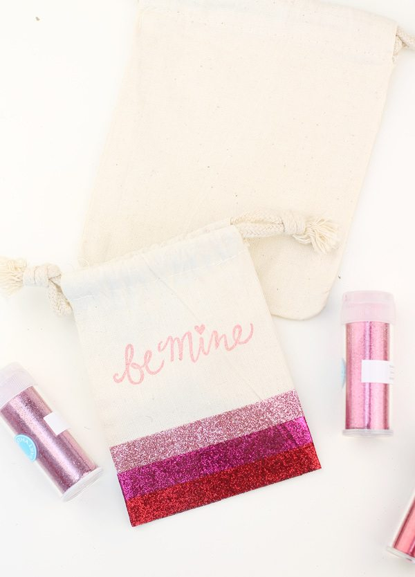 Ombre Glitter Treat Bags | damask love