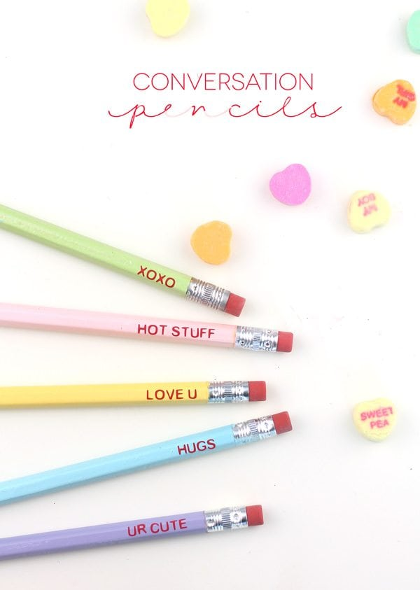 DIY Conversation Pencils