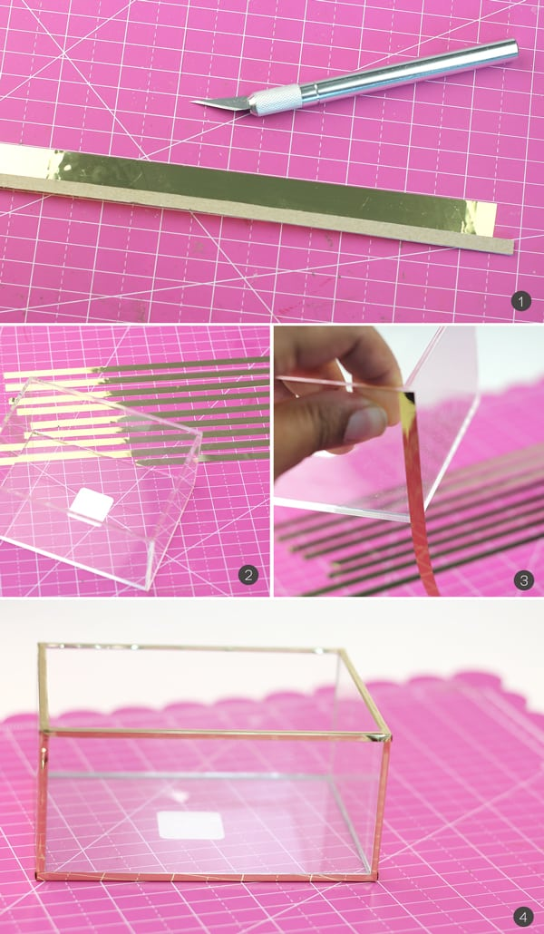 DIY Acrylic and Gold Succulent Planter   Damask Love