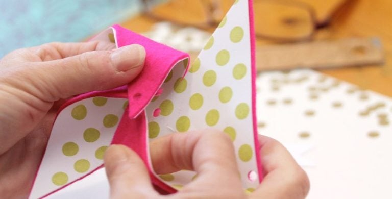 Damask Love Live: Revisited:: Felt Pinwheel Nametags