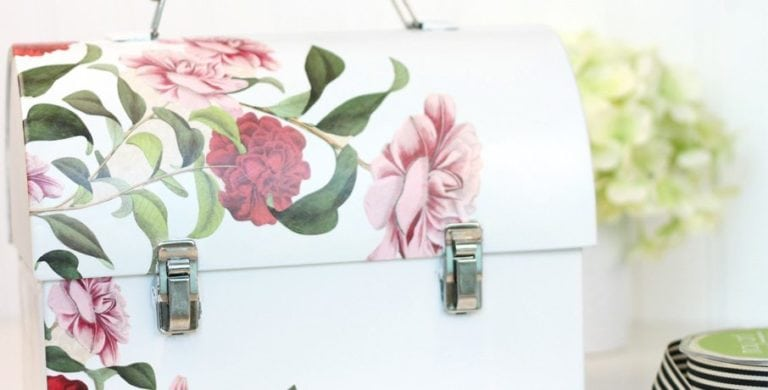 Decoupage Lunch Box Stationery Kit
