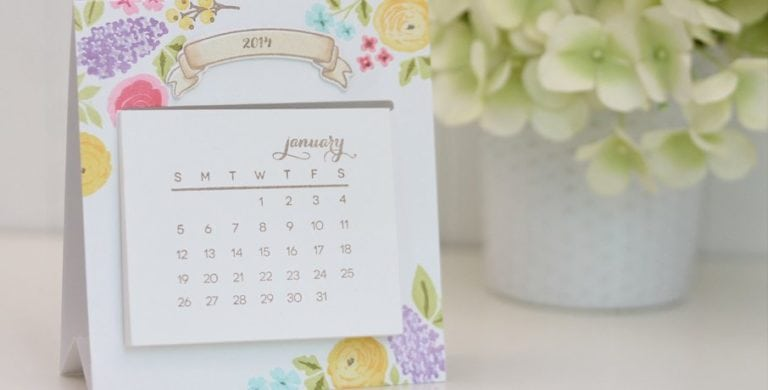 Let's Make A Date: Easy Easel Calendar